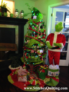 Our 1st Grinch Christmas Tree with Grinchy Quilted Tree Skirt