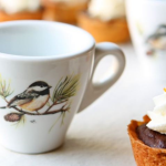 Set of 4 Chickadee Espresso Cups