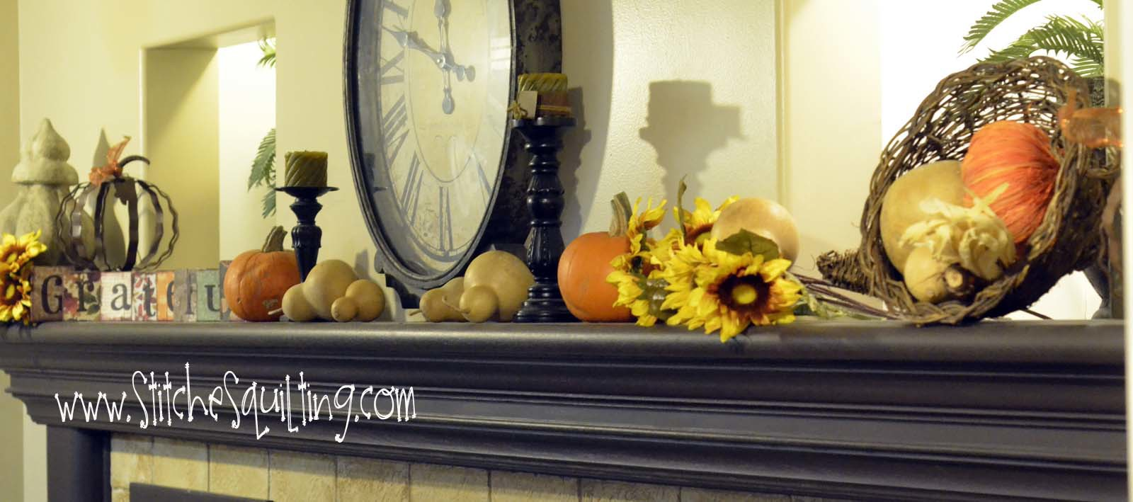 Thanksgiving Fall Fireplace Mantle Ideas