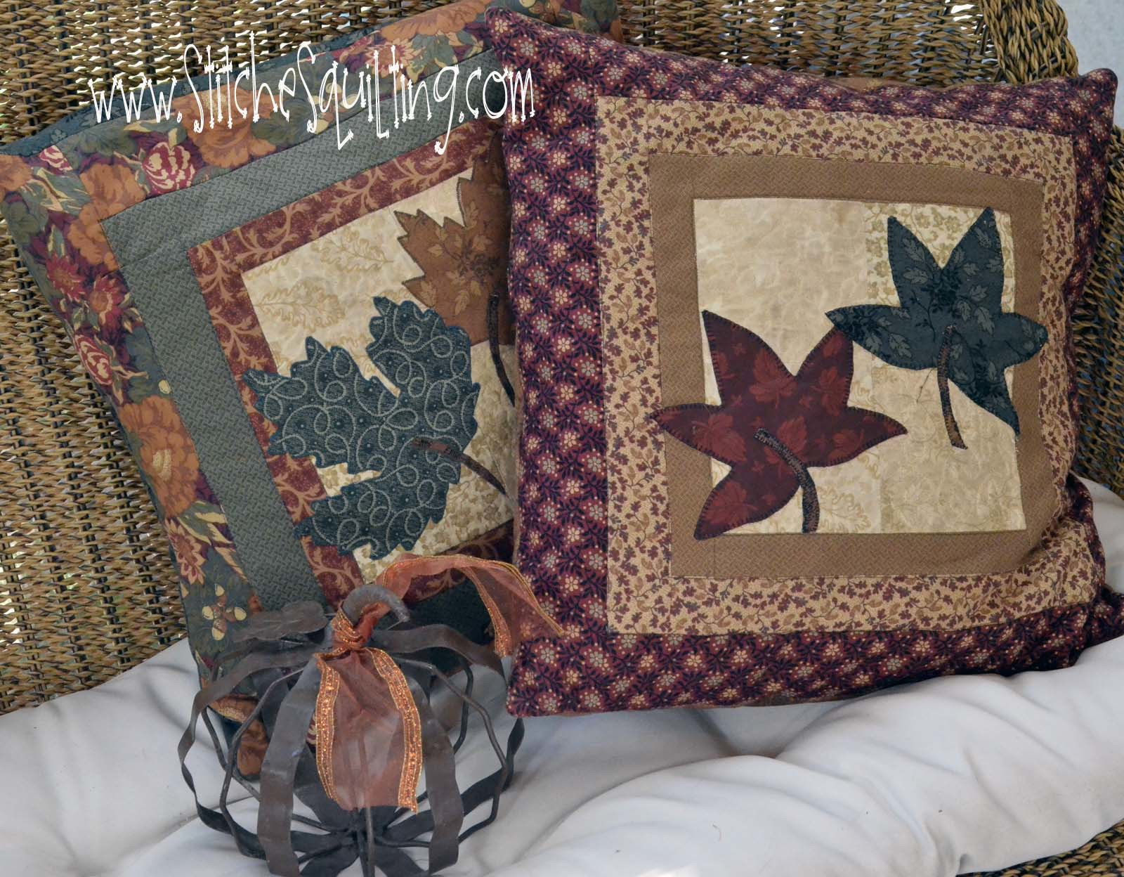 Toss around some Fall Thanksgiving Quilted Pillows for people to nap with