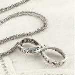 I Love You Forever Infinity Necklace Sterling Silver
