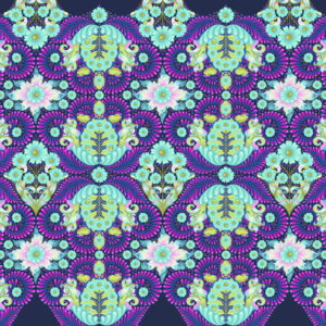 The Tortoise Blue Raspberry Tula Pink Slow and Steady Free Spirit Fabrics PWTP085