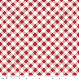 Sew Cherry 2 Lori Holt Gingham c5808-red