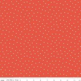 Glamper-Licious Red with white Dots Fabric